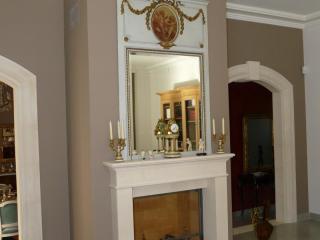 cheminée modèle LYON avec foyer fermé