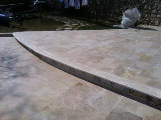 Bordure de terrasse épaisseur 4 cm Travertin classic