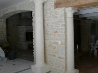 N°1 diamètre 26/30 et 3/4 de colonne adossée au mur