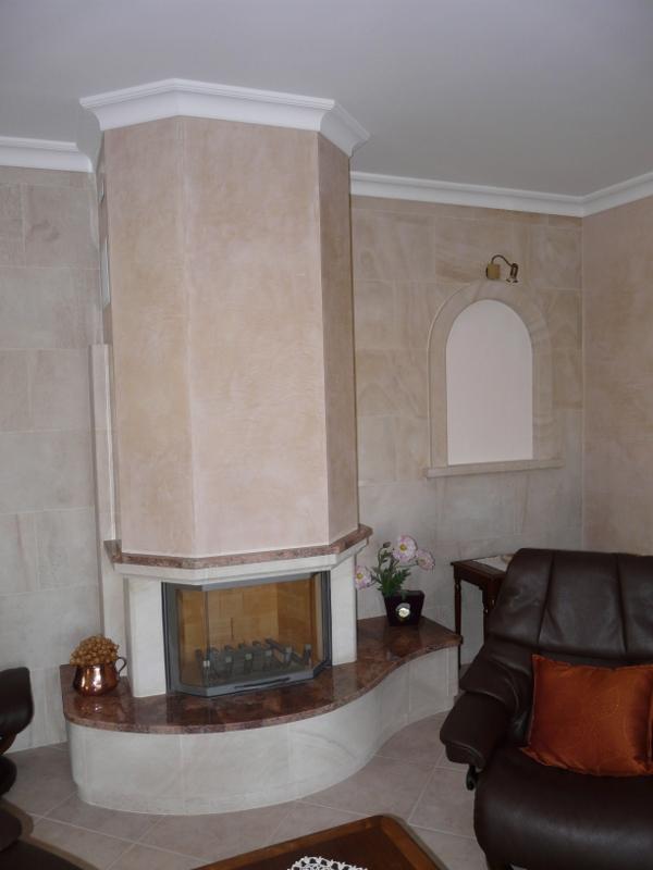 instructions d'installation de la pierre de cheminée